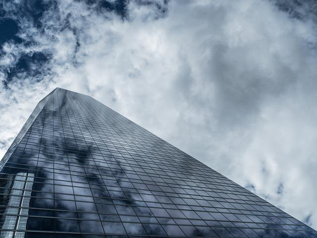 Torres, Madrid, Sky, Clouds, Buildings, Glass
