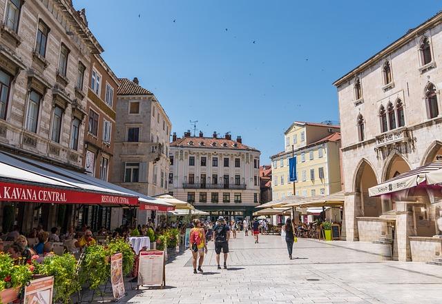 Split, Croatia, Architecture, Tourism, Sky, Blue