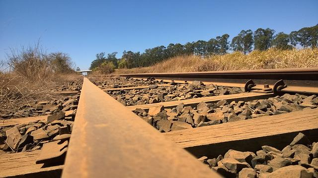 Trail, Railroad, Train, Sky