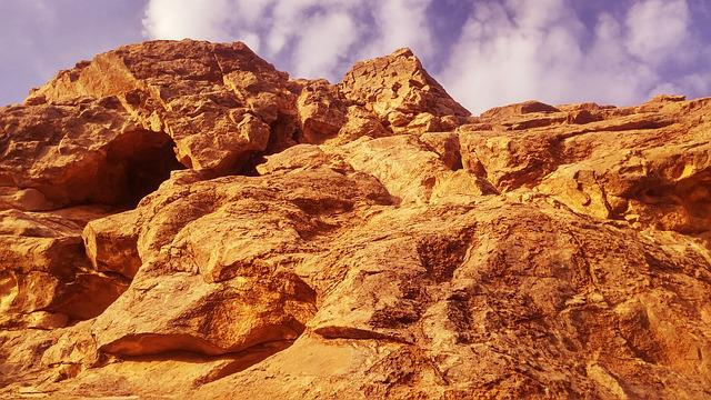 Mountain, Desert, Yellow, Iran, Sky, Clouds, Travel