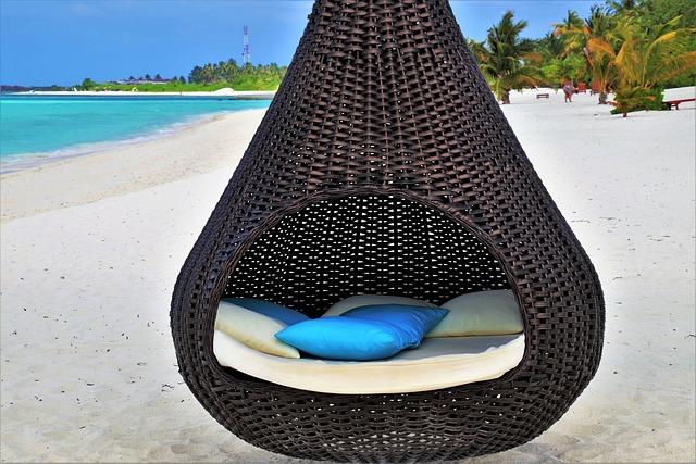 Basket, Holiday, Maldives, Beach, Water, Travel, Sky