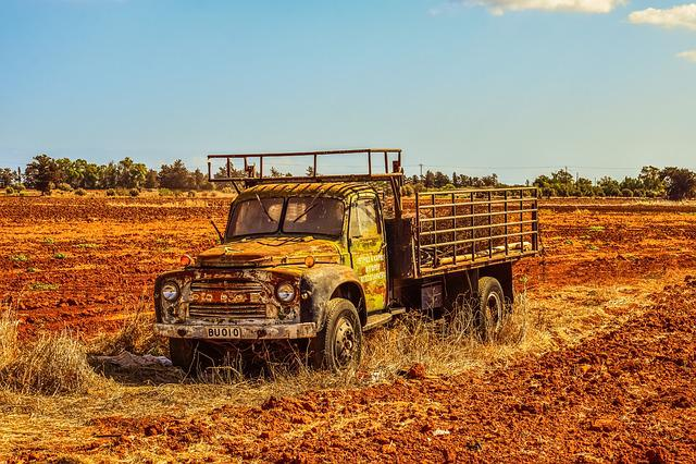 Landscape, Rural, Countryside, Fields, Truck, Sky