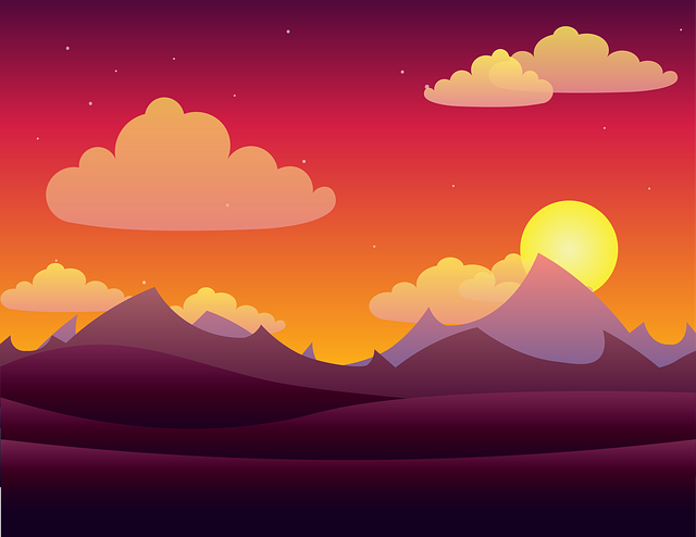 Landscape, Vector, Twilight, Light, Night, Dusk, Sky