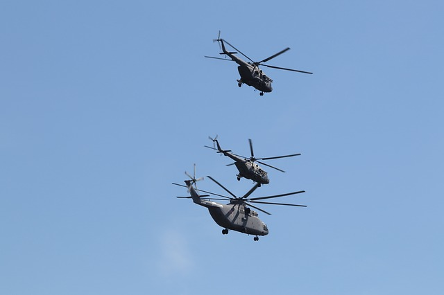 Helicopter, Parade, Sky, Flying, Moscow, Victory Day
