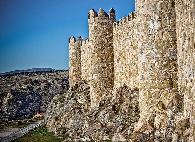 Monument, Stone, Wall, Sky, City, Architecture, Avila