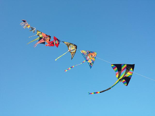 Sky, Kites, Freedom, Wind
