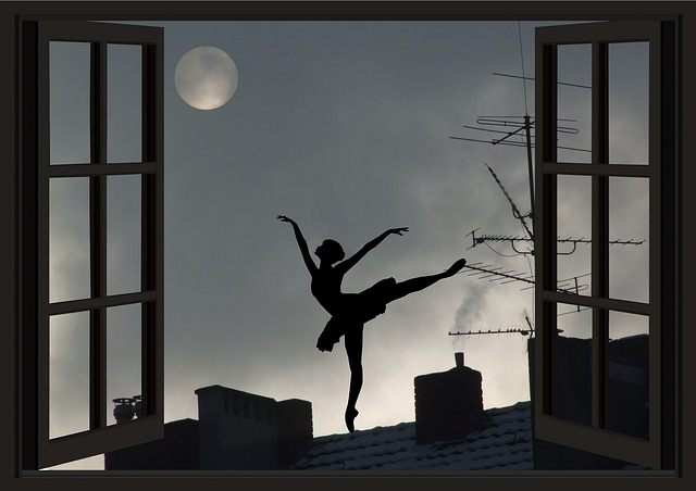 Moon, Moon Addicted, Universe, Dancer, Window, Sky