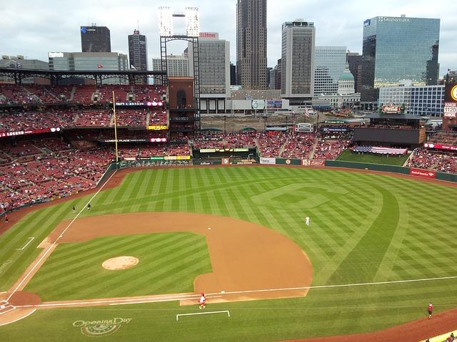 Baseball, St Louis, Skyline, Missouri, Stadium, Archway