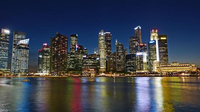 Singapore River, Skyline, Building, Water