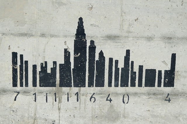 Grafitti, Code, Skyline, Building Outline, Number