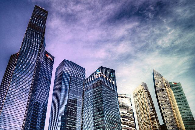 Singapore, Hdr, Marina Bay Financial Centre, Skyline