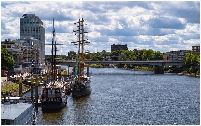 Skyline, Sailing Vessel, Port, Water, Ship, City