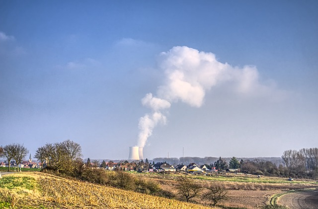 Nuclear Power Plant, Place, Skyline, Village