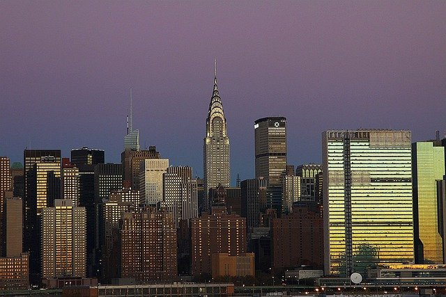 Skyline, City, Manhattan, New, York, Chrysler, Building