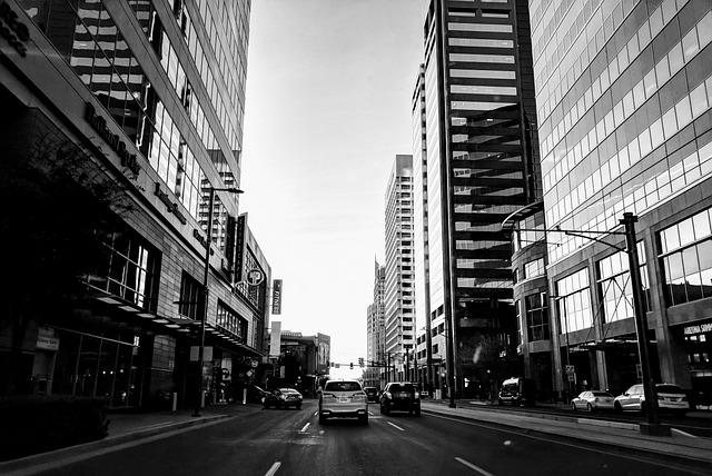City, Street, Architecture, Skyscraper, Urban, Phoenix