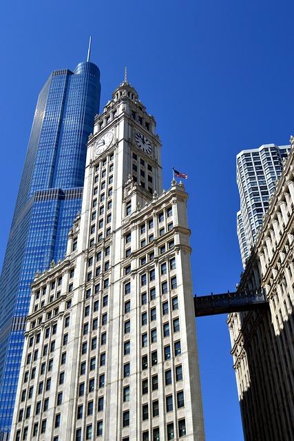 Chicago, Skyscraper, City, High Rise, Buildings
