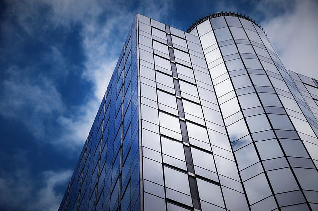 Architecture, Skyscraper, Sky, Office, Glassware, Steel