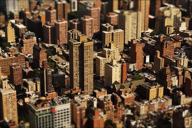 Skyscraper, Homes, City, America, Housewife