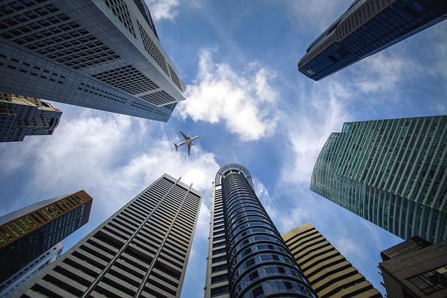 Skyscrapers, Singapore, City, Sky, Buildings