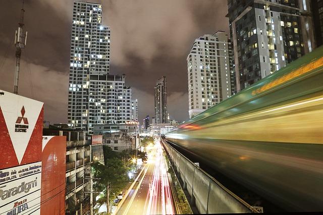 Skytrain, Thailand, Transportation, Sky, Travel