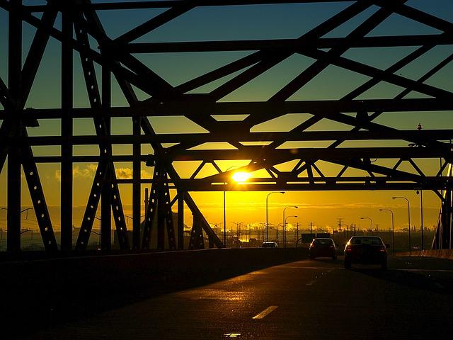 Skyway, Chicago, Bridge, Illinois, Morning