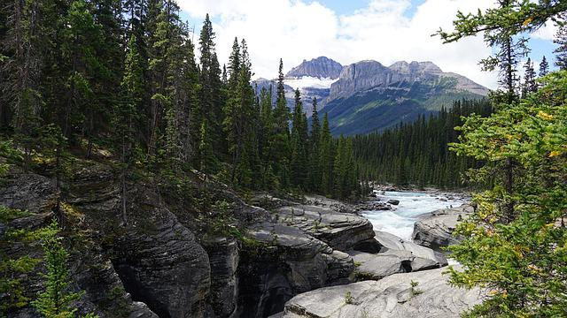 Canyon, Slate Rocks, Water, Canada