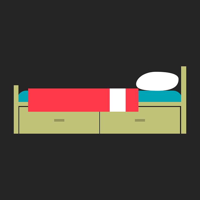 Bed, Sleep, Night, Rest, Blanket, Pillow, Wood
