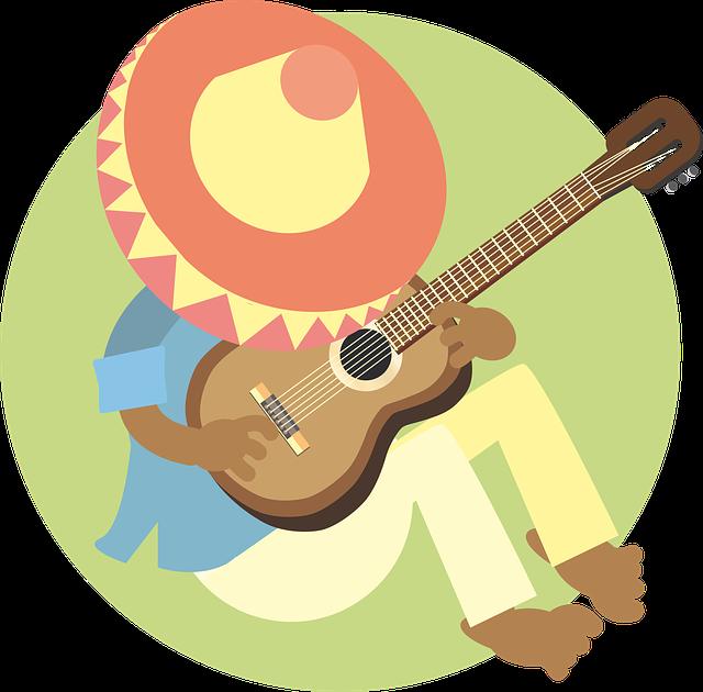 Man, Sleeping, Mexican, Guitar, Music, Sombrero