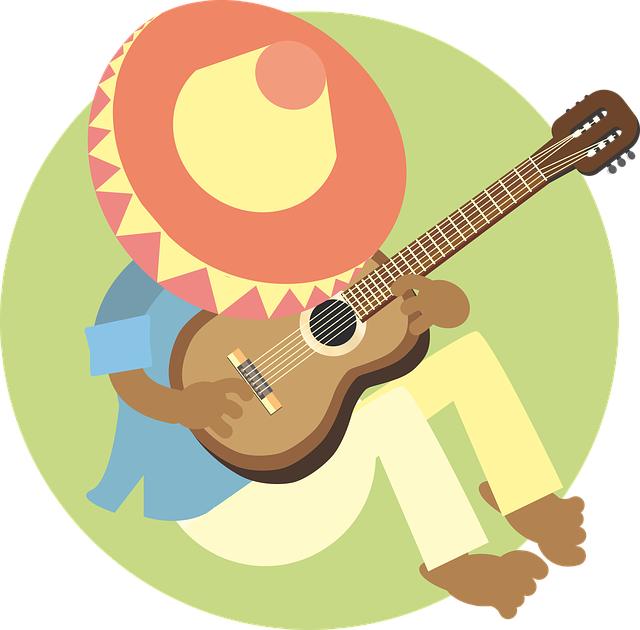 Man, Sleeping, Mexican, Guitar, Music, Sombrero