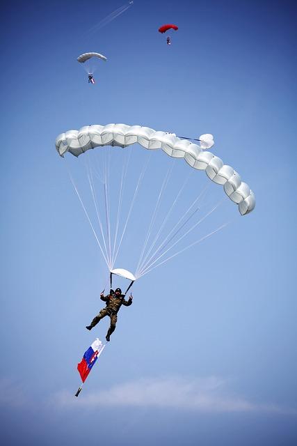 Paragliding, Airshows, Sliač, Slovakia, A Parachute
