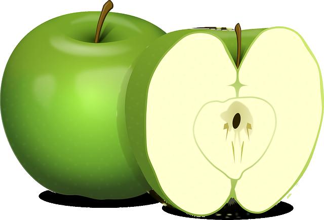 Apples, Green, Fruit, Food, Carpel, Cut, Sliced