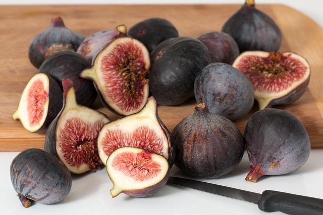 Figs, Fruits, Fresh, Ripe, Organic, Harvest, Sliced