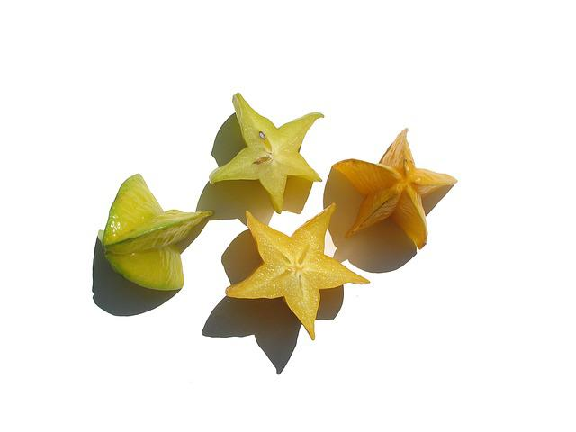 Star Fruit, Sliced, Yellow Green
