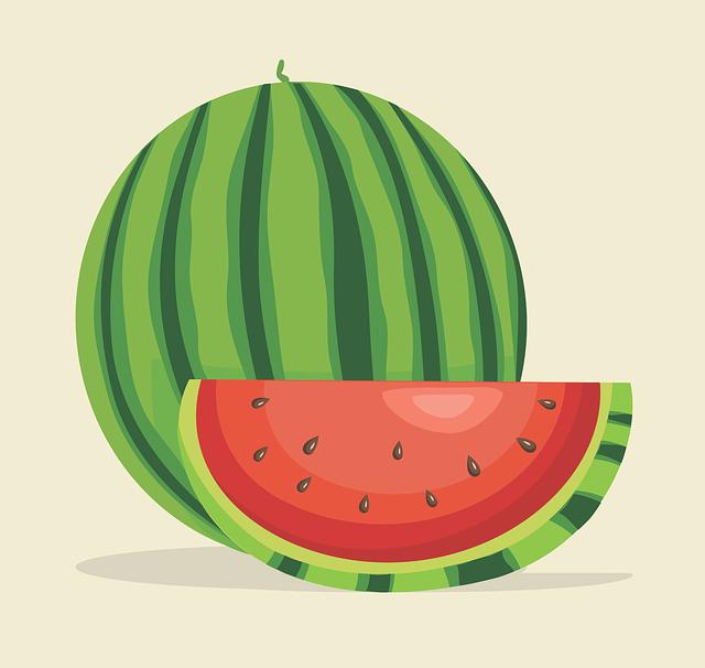 Watermelon, Sliced watermelon, Cut Watermelon, Green
