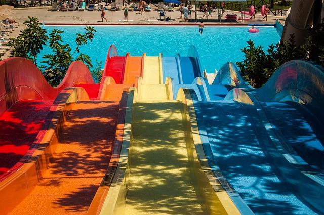 Water Park, Slide, The Sun, Weather, Holidays, Greece