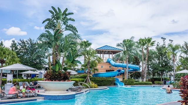 Resort, Pool, Slide, Tropical, Summer, Holiday, Water