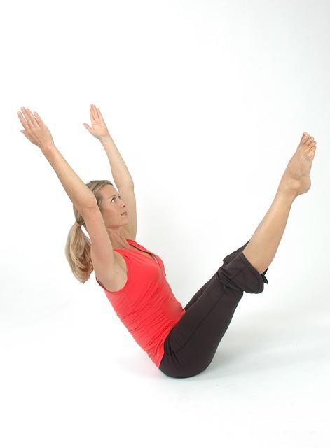 Woman, Pilates, Yoga, Girl, Stretch, Pose, Muscle, Slim