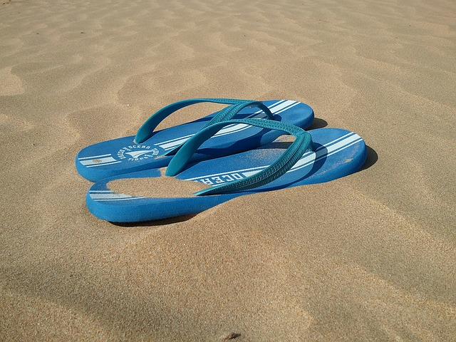 Beach, Slippers, Holiday