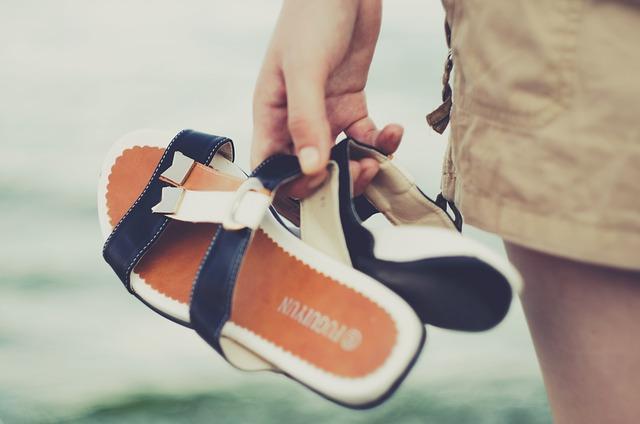 Sea, Slippers, Water, Beach, Summer