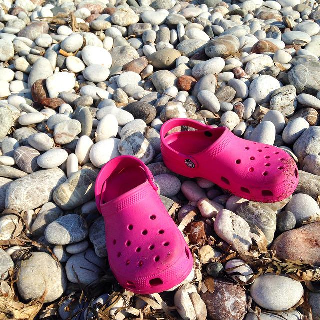 Beach, Slippers, Stones
