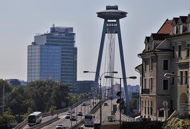 Ufo, The Observation Deck, Bratislava, Slovakia, Bridge