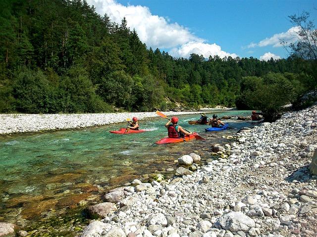 Kayak, Kayaking, Sport, Active, Soča, Slovenia, Forest
