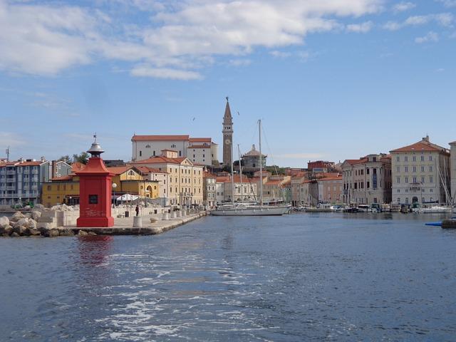 Pyran, Slovenija, Sea, Marina, Overview, Sea view