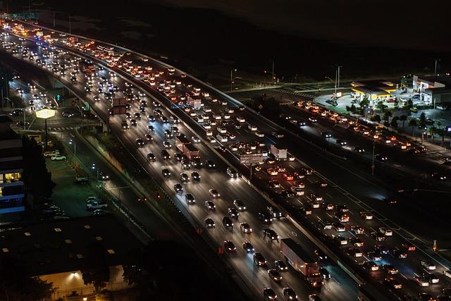 Traffic Jam, Traffic, Highway, Freeway, Slowdown, Slow