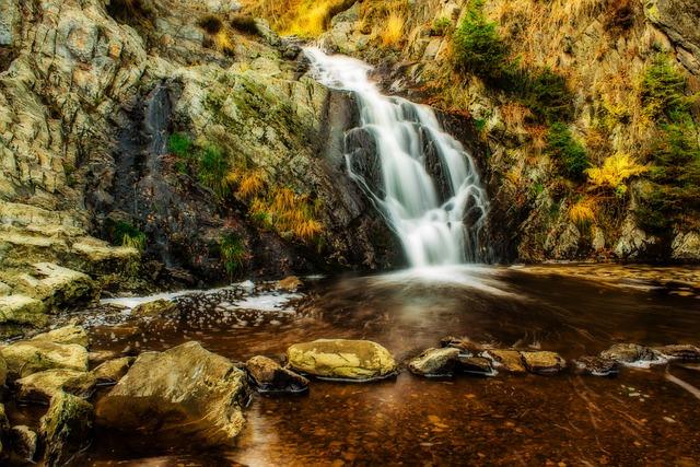 Waterfall, Water, Small Waterfall, Flow, Waters, Bubble