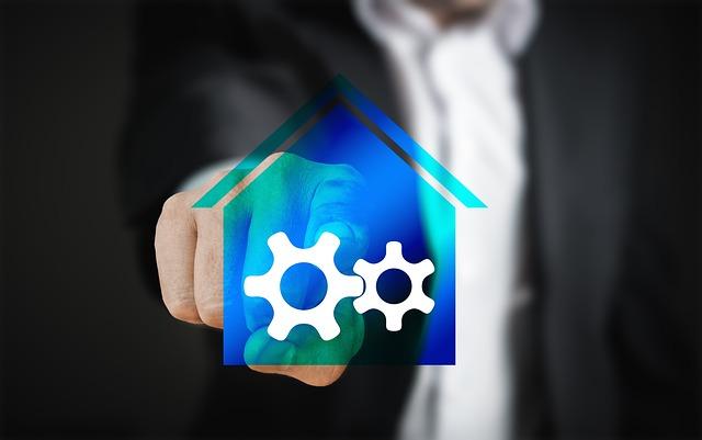 Smart Home, Home, Technology Touch Screen, Man Finger