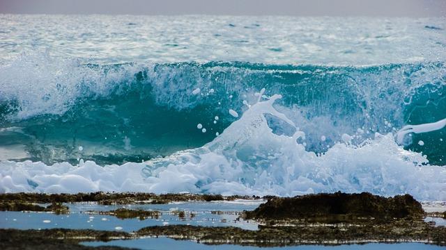 Wave, Smashing, Foam, Spray, Water, Drops, Beach