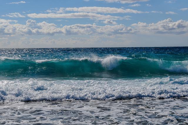 Wave, Smashing, Sea, Coast, Nature, Beach, Blue, Splash