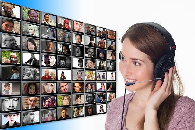 Human, Communication, Headset, Headphones, Joy, Smile