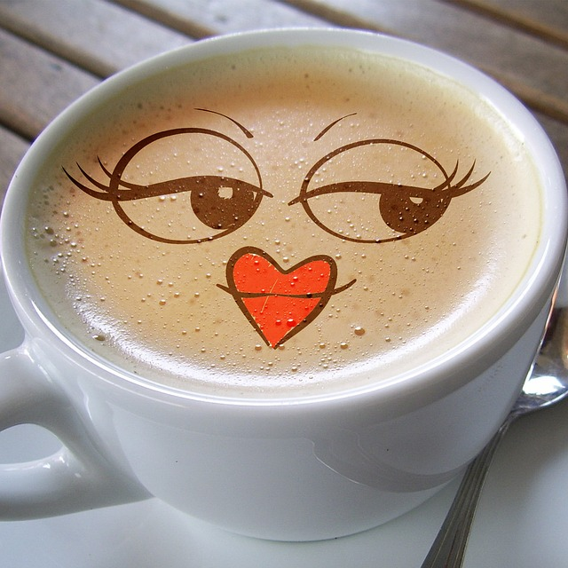 Cup, Coffee, Foam, Café Au Lait, Smile, Laugh, Smiley